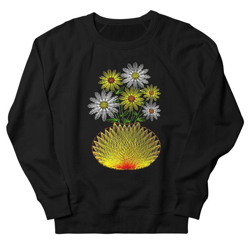 String Art Flowers Men's Sweatshirt by funkymojo's Artist Shop