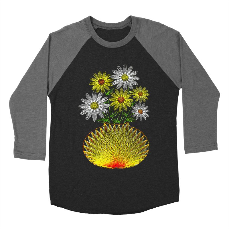 String Art Flowers Men's Baseball Triblend T-Shirt by funkymojo's Artist Shop