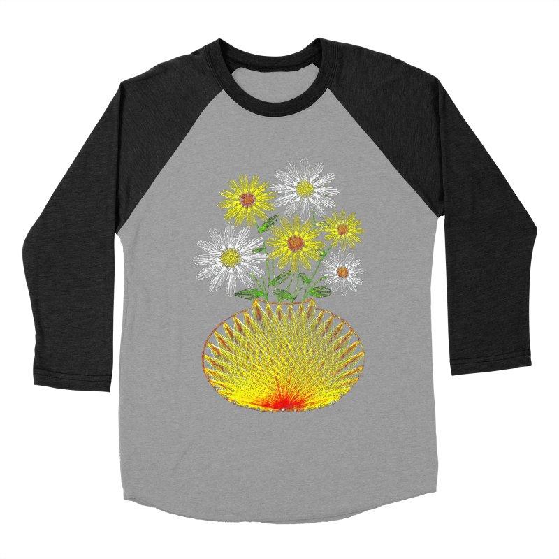 String Art Flowers Men's Baseball Triblend T-Shirt by funkymojo's Artist Shop