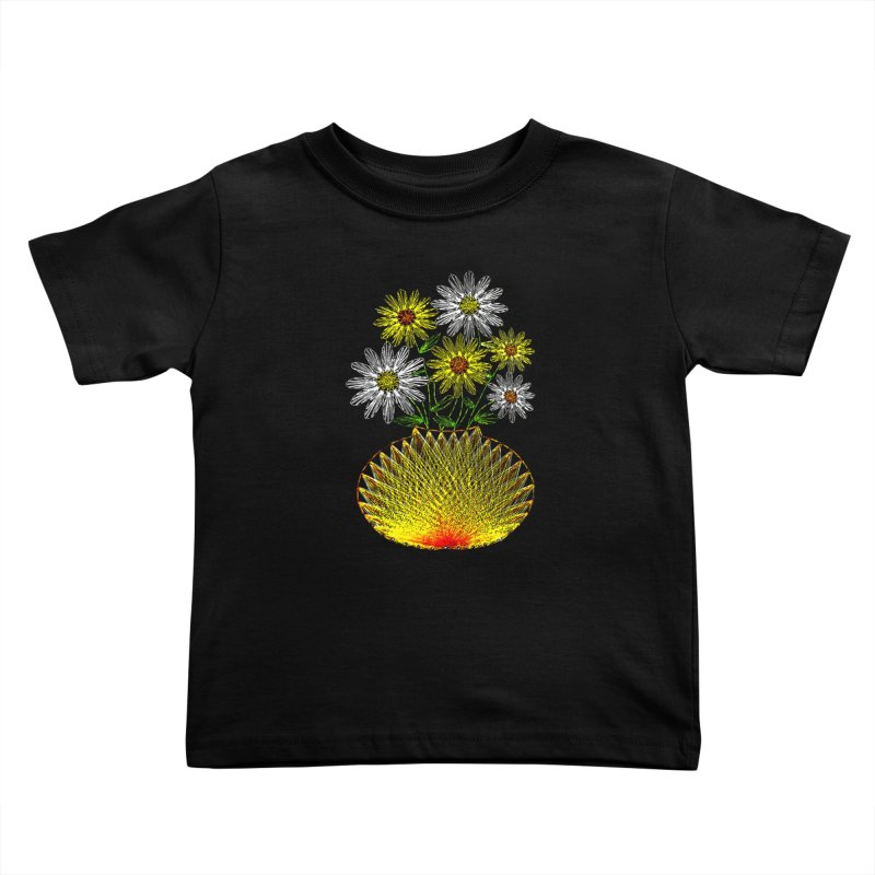 String Art Flowers Kids Toddler T-Shirt by funkymojo's Artist Shop