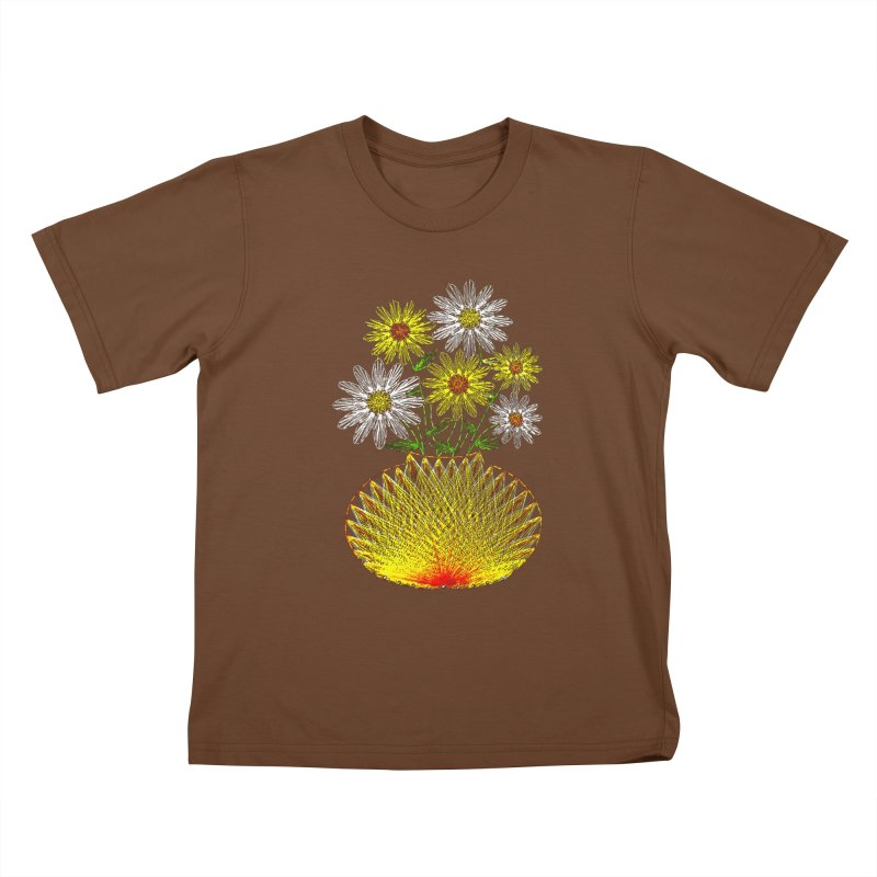 String Art Flowers Kids T-shirt by funkymojo's Artist Shop