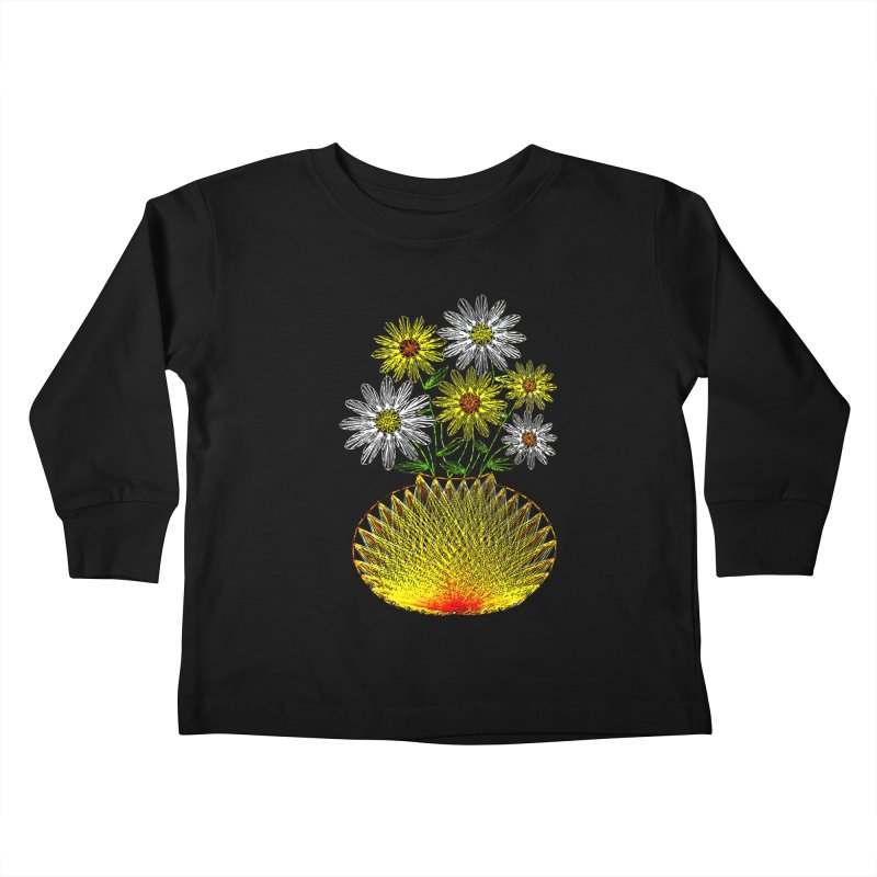 String Art Flowers Kids Toddler Longsleeve T-Shirt by funkymojo's Artist Shop