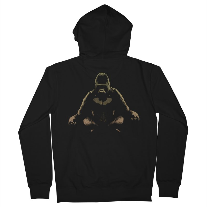 Ape Meditating Men's Zip-Up Hoody by funkymojo's Artist Shop
