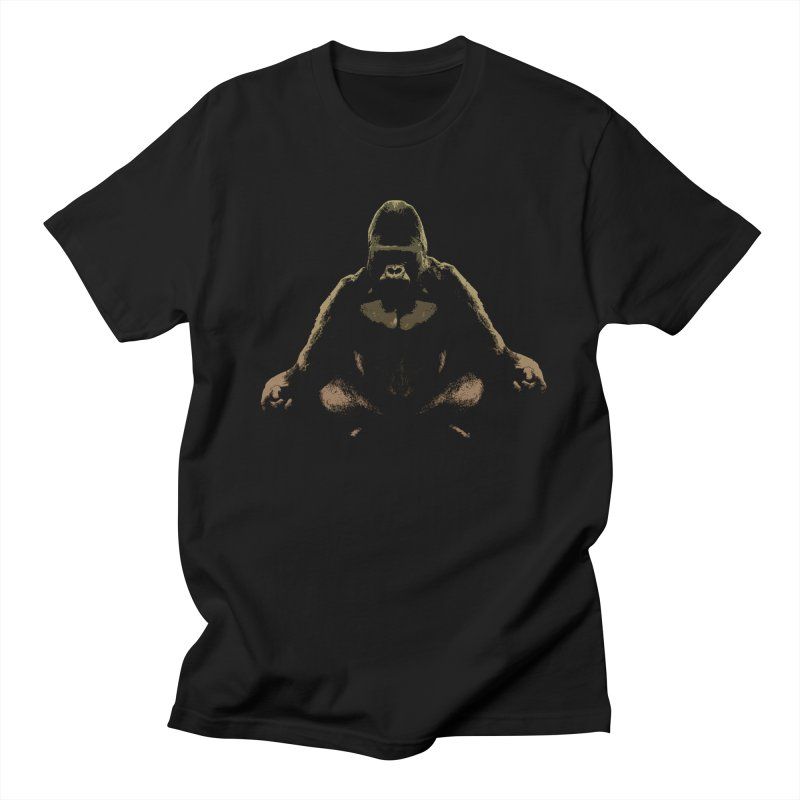 Ape Meditating Men's T-shirt by funkymojo's Artist Shop