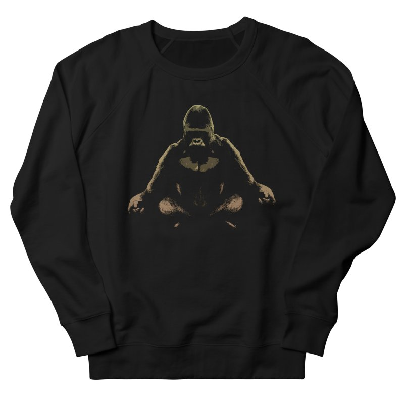 Ape Meditating Men's Sweatshirt by funkymojo's Artist Shop