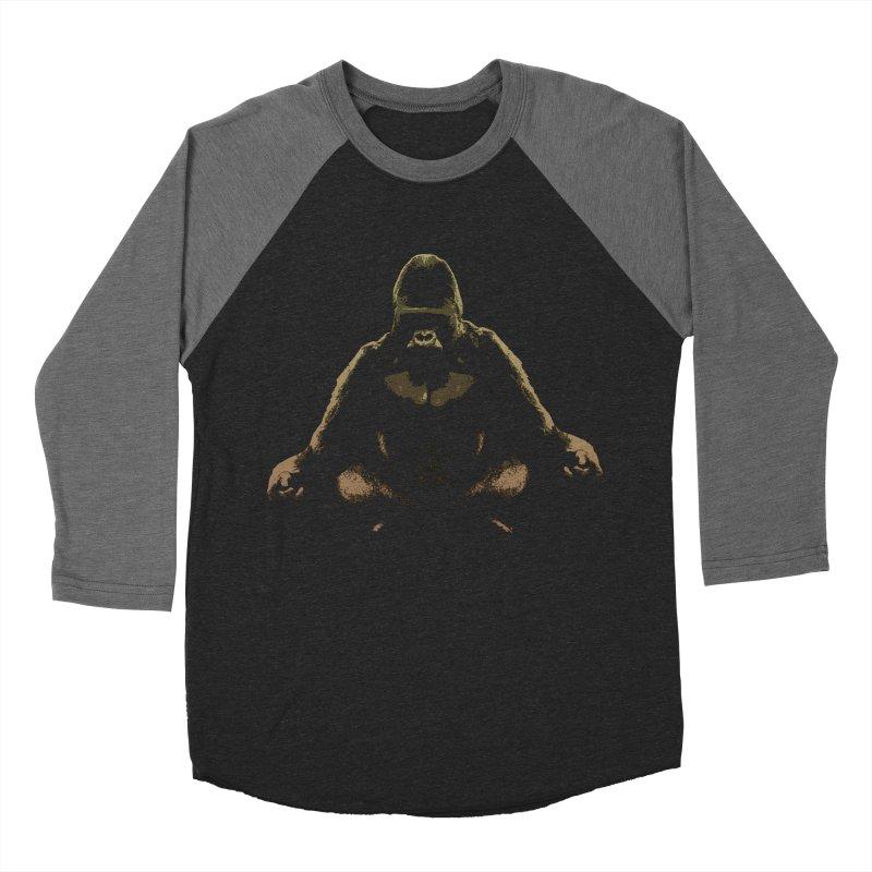 Ape Meditating Women's Baseball Triblend T-Shirt by funkymojo's Artist Shop
