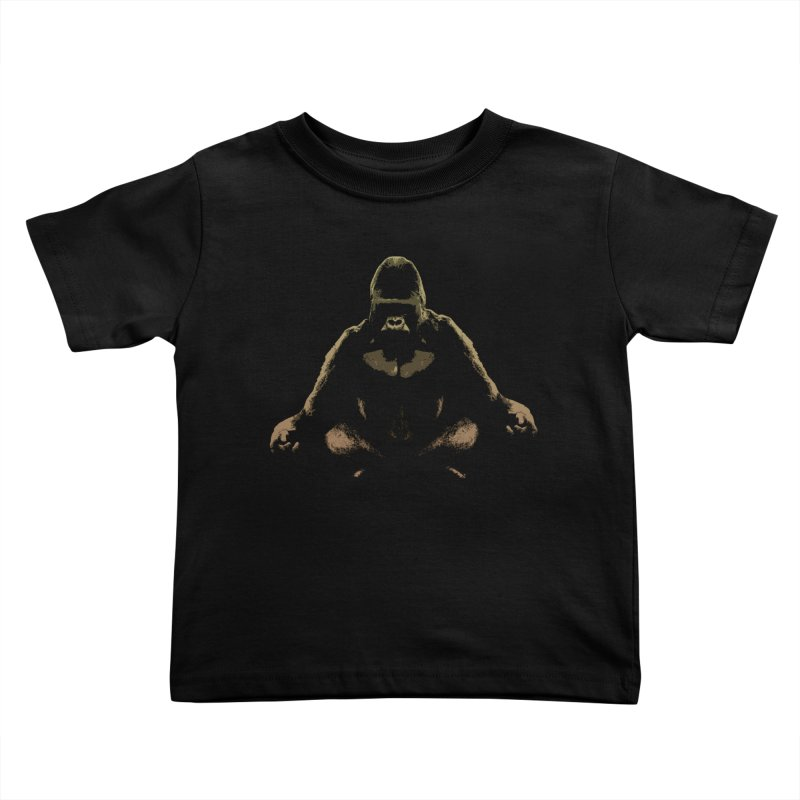 Ape Meditating Kids Toddler T-Shirt by funkymojo's Artist Shop
