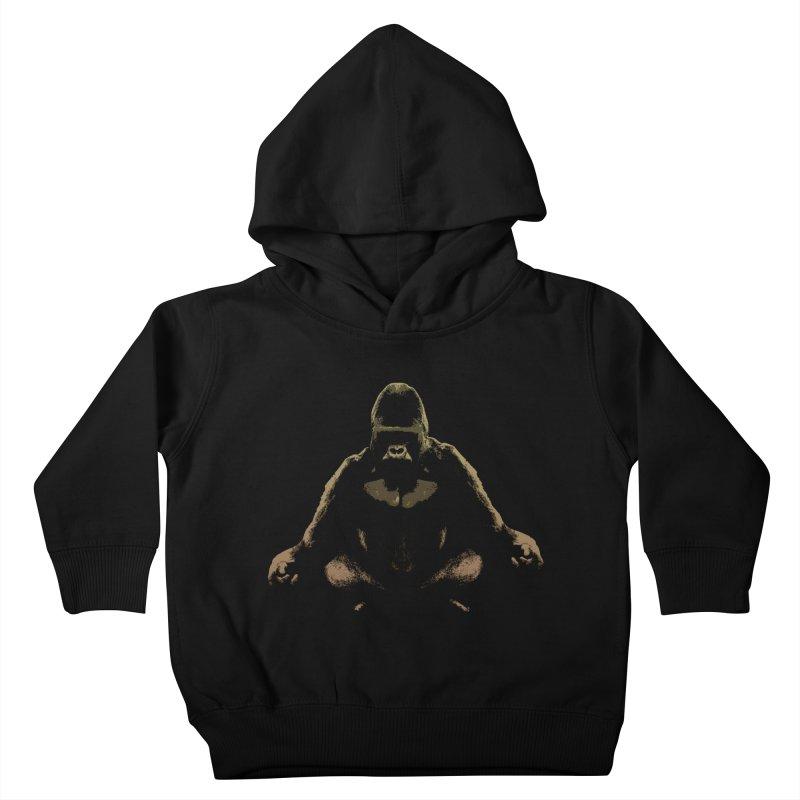 Ape Meditating Kids Toddler Pullover Hoody by funkymojo's Artist Shop