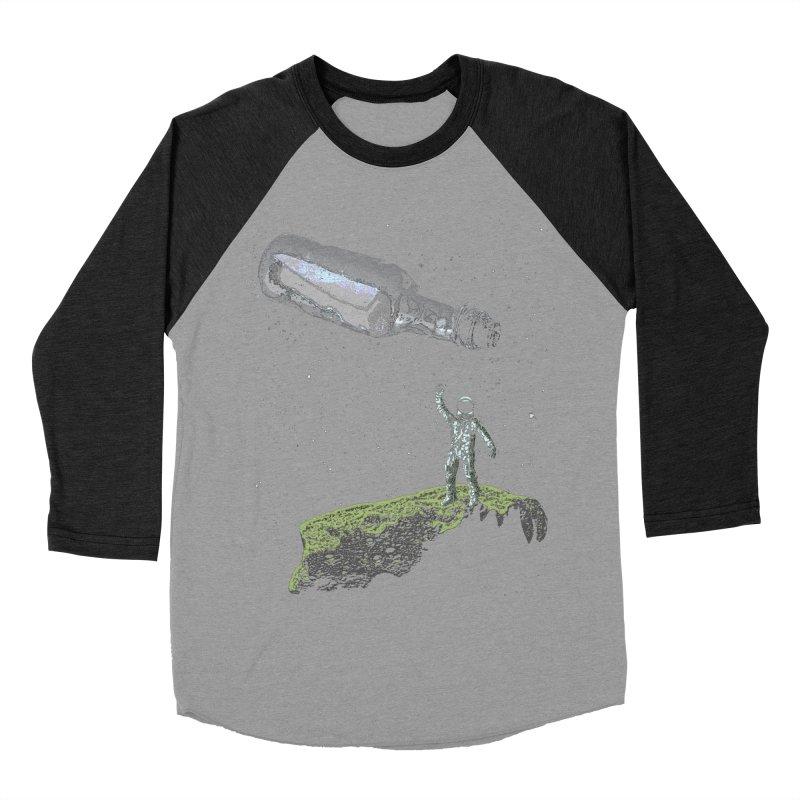 Space Castaway Men's Baseball Triblend T-Shirt by funkymojo's Artist Shop