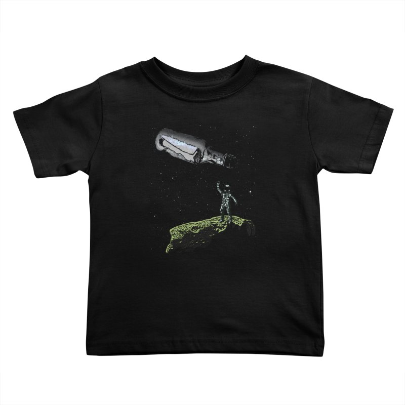 Space Castaway Kids Toddler T-Shirt by funkymojo's Artist Shop