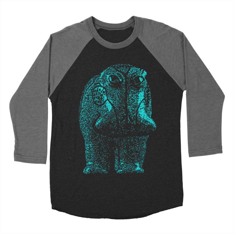 Blue Hippo Women's Baseball Triblend T-Shirt by funkymojo's Artist Shop