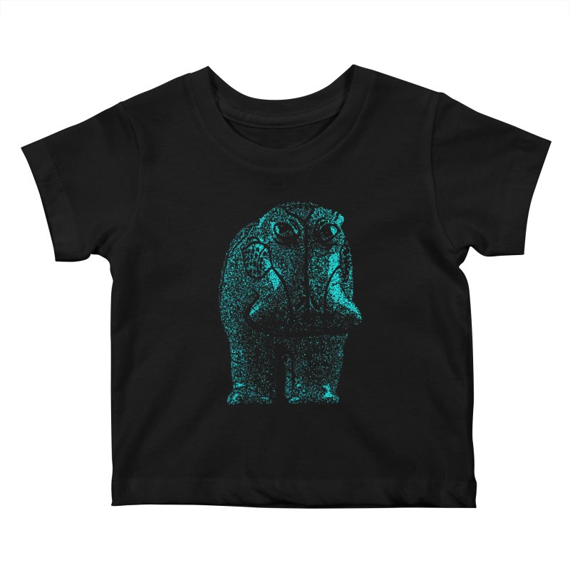 Blue Hippo Kids Baby T-Shirt by funkymojo's Artist Shop