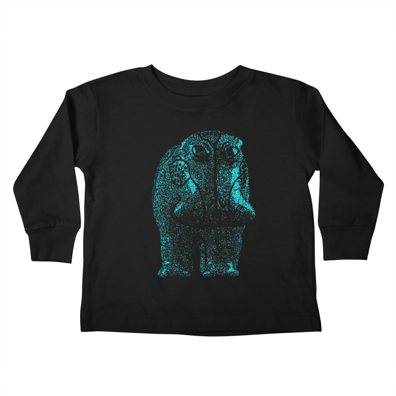 Blue Hippo Kids Toddler Longsleeve T-Shirt by funkymojo's Artist Shop