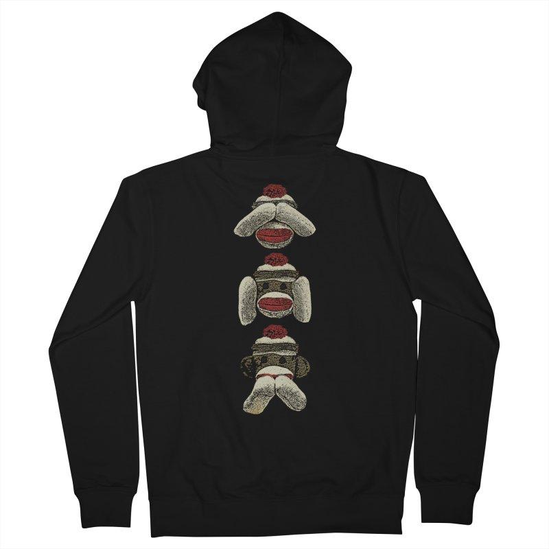Three Wise Sock Monkeys Women's Zip-Up Hoody by funkymojo's Artist Shop