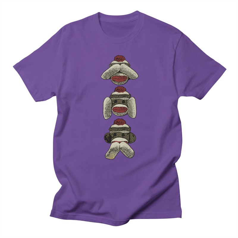 Three Wise Sock Monkeys Men's T-shirt by funkymojo's Artist Shop