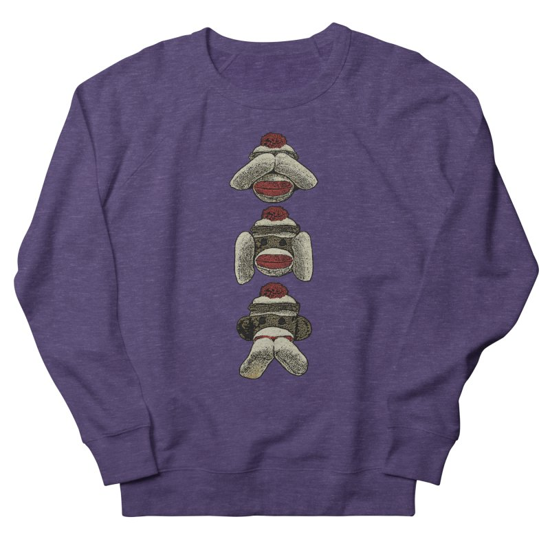Three Wise Sock Monkeys Women's Sweatshirt by funkymojo's Artist Shop