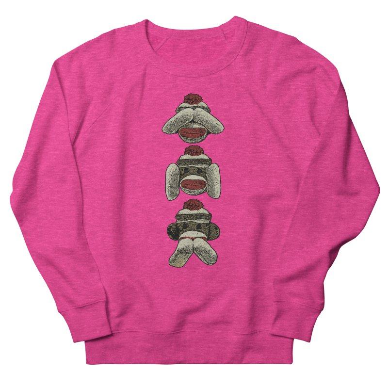 Three Wise Sock Monkeys Women's Sweatshirt by funkymojo's Artist Shop
