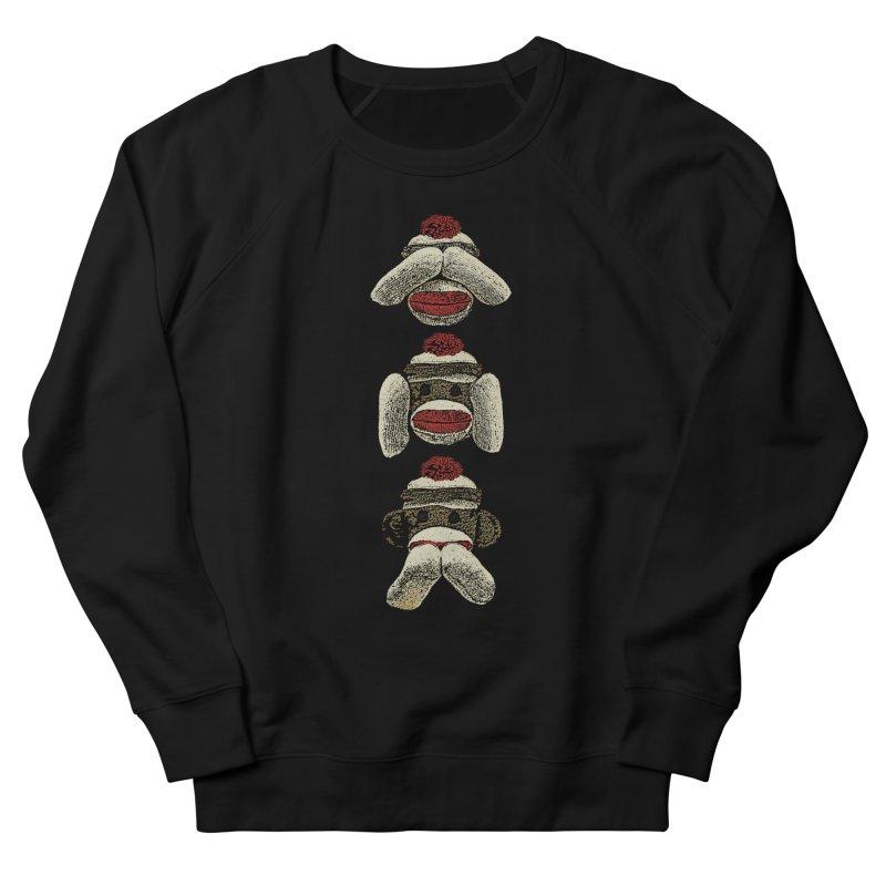 Three Wise Sock Monkeys Men's Sweatshirt by funkymojo's Artist Shop