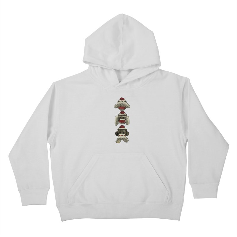 Three Wise Sock Monkeys Kids Pullover Hoody by funkymojo's Artist Shop