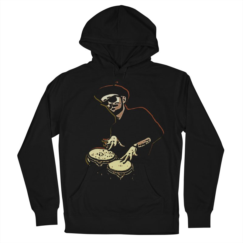Bongo Beatin' Beatnik Men's Pullover Hoody by funkymojo's Artist Shop
