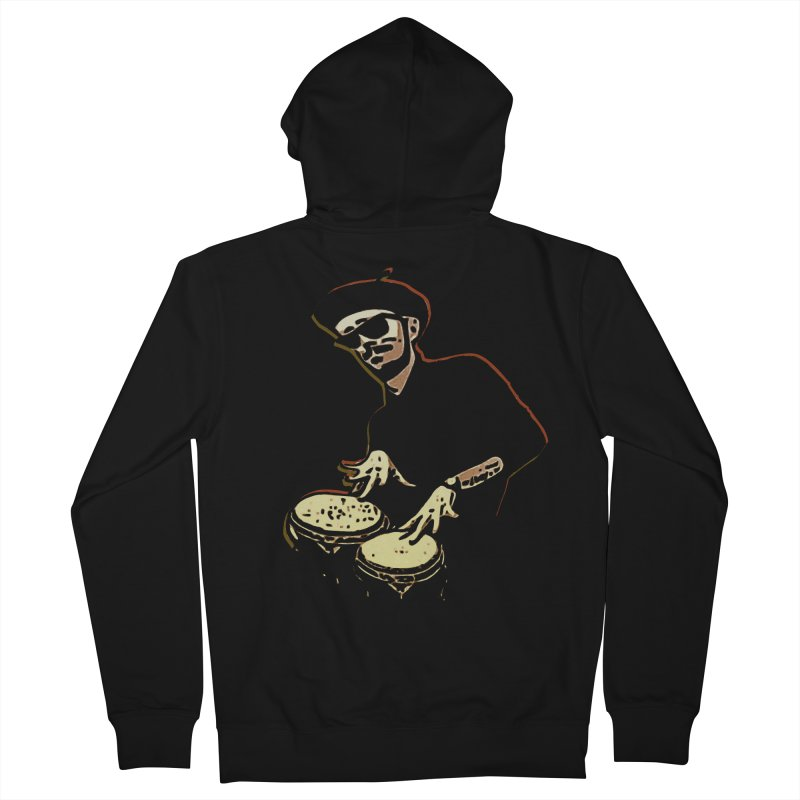 Bongo Beatin' Beatnik Men's Zip-Up Hoody by funkymojo's Artist Shop