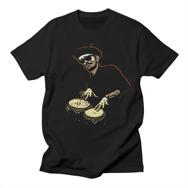 Bongo Beatin' Beatnik Men's T-shirt by funkymojo's Artist Shop