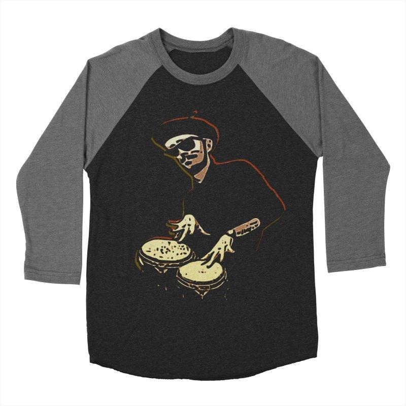 Bongo Beatin' Beatnik Women's Baseball Triblend T-Shirt by funkymojo's Artist Shop