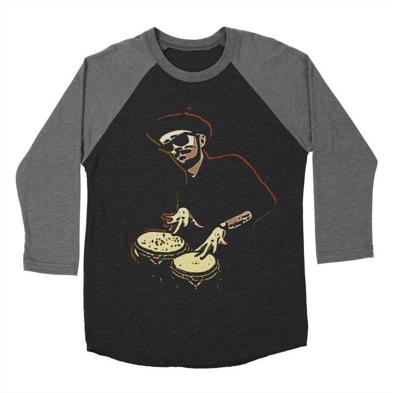 Bongo Beatin' Beatnik Men's Baseball Triblend T-Shirt by funkymojo's Artist Shop