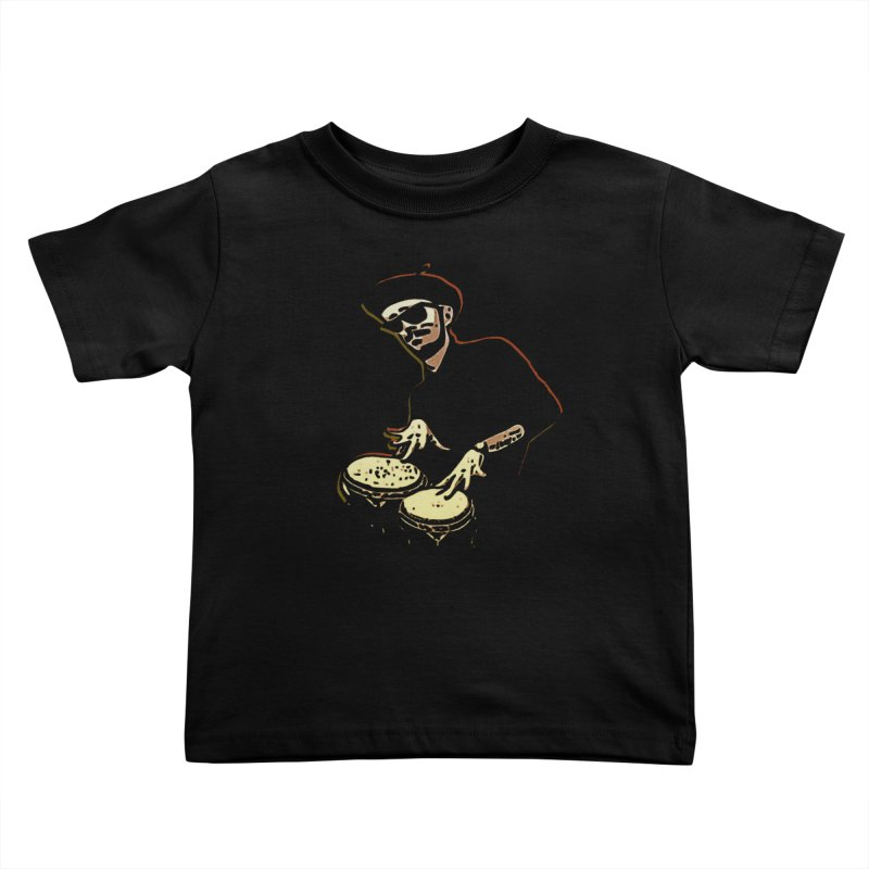 Bongo Beatin' Beatnik Kids Toddler T-Shirt by funkymojo's Artist Shop