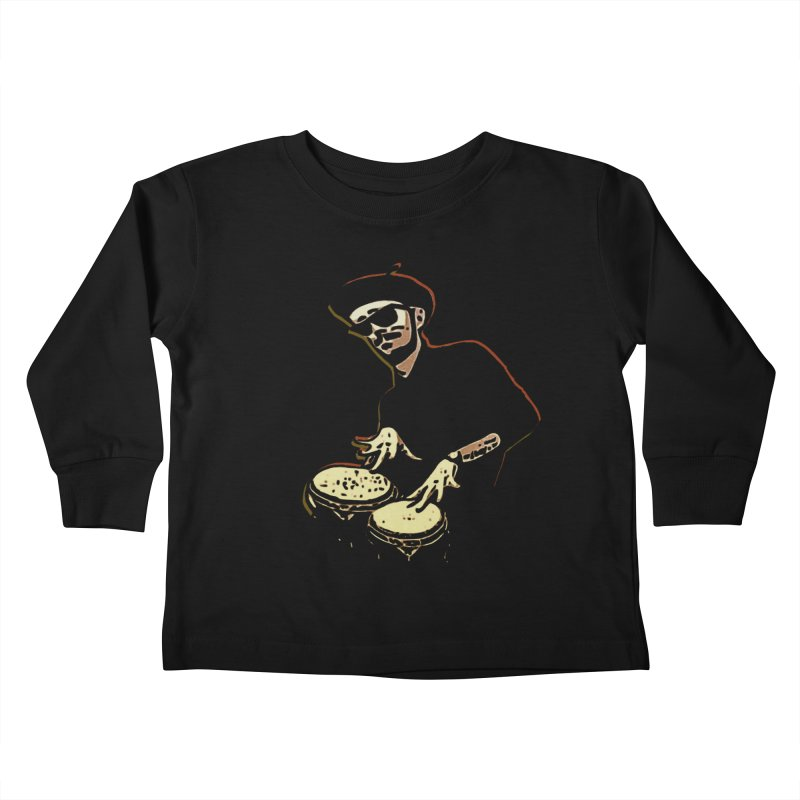 Bongo Beatin' Beatnik Kids Toddler Longsleeve T-Shirt by funkymojo's Artist Shop
