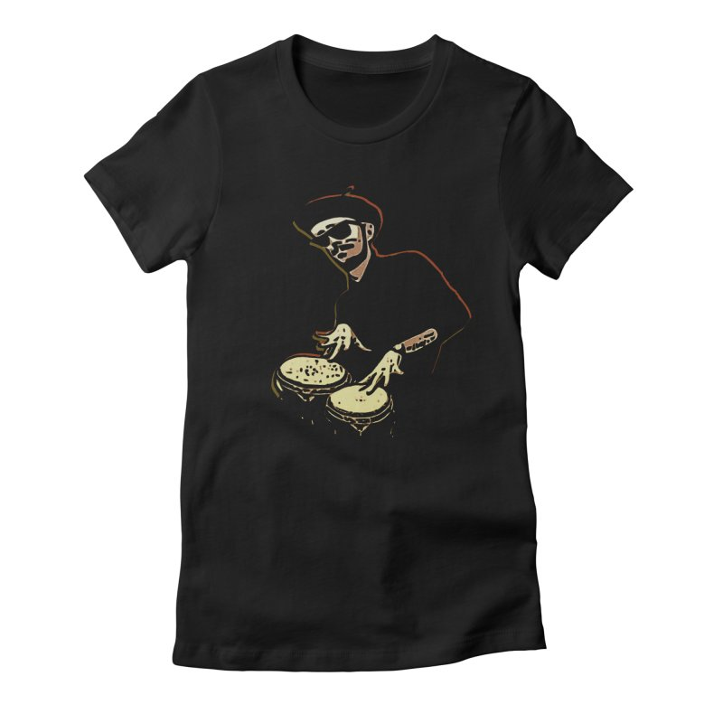 Bongo Beatin' Beatnik Women's Fitted T-Shirt by funkymojo's Artist Shop
