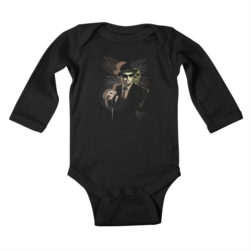 G-Man on Holiday Kids Baby Longsleeve Bodysuit by funkymojo's Artist Shop