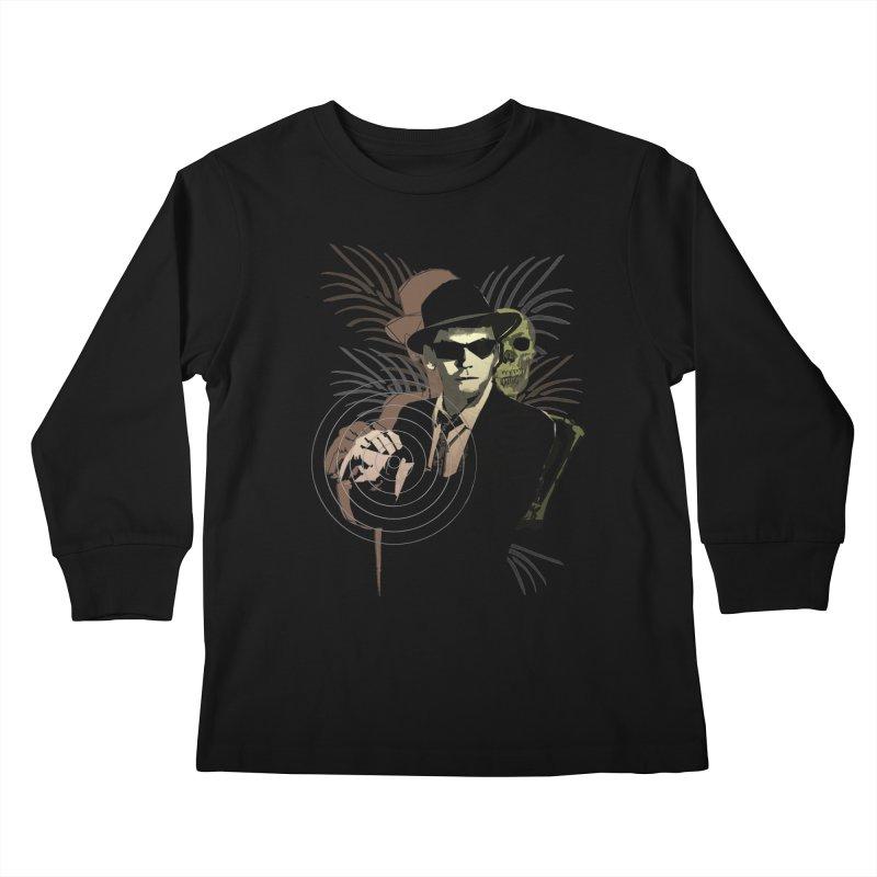 G-Man on Holiday Kids Longsleeve T-Shirt by funkymojo's Artist Shop