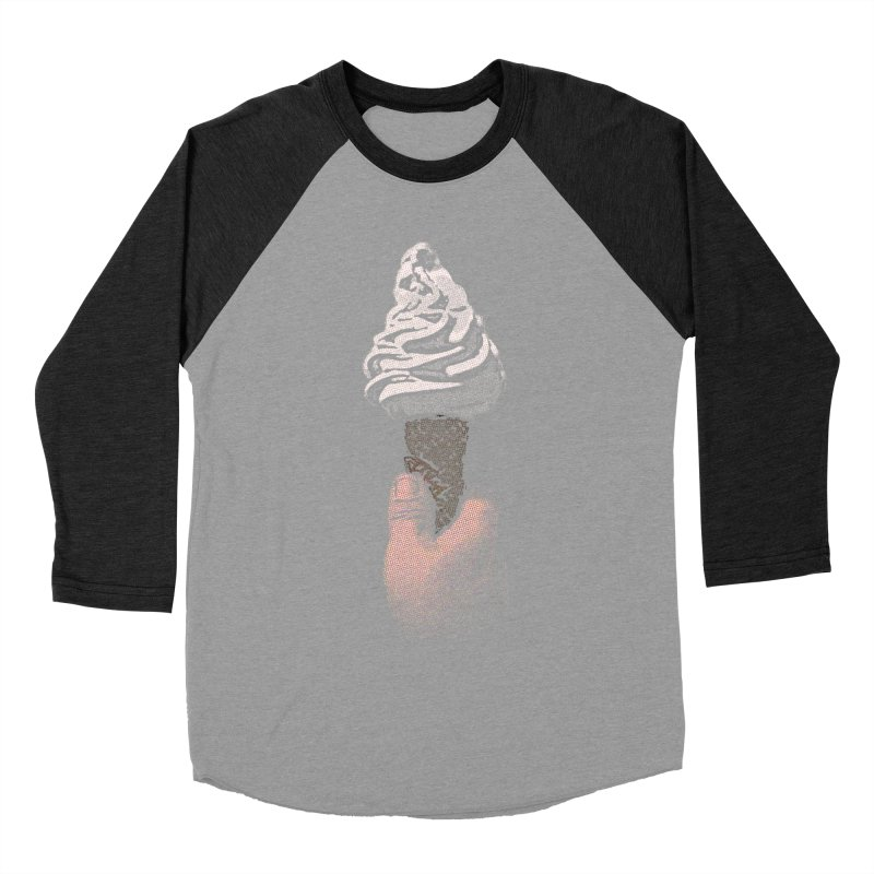 Ice Cream Liberation Men's Baseball Triblend T-Shirt by funkymojo's Artist Shop