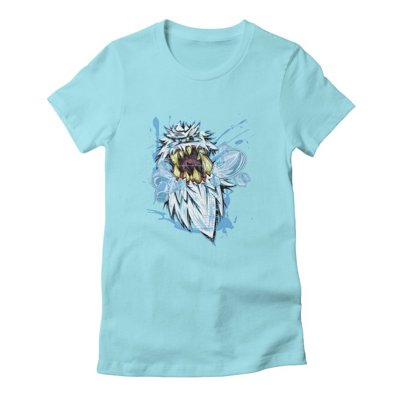Ice Chips Women's Fitted T-Shirt by FunkyTurtle Artist Shop