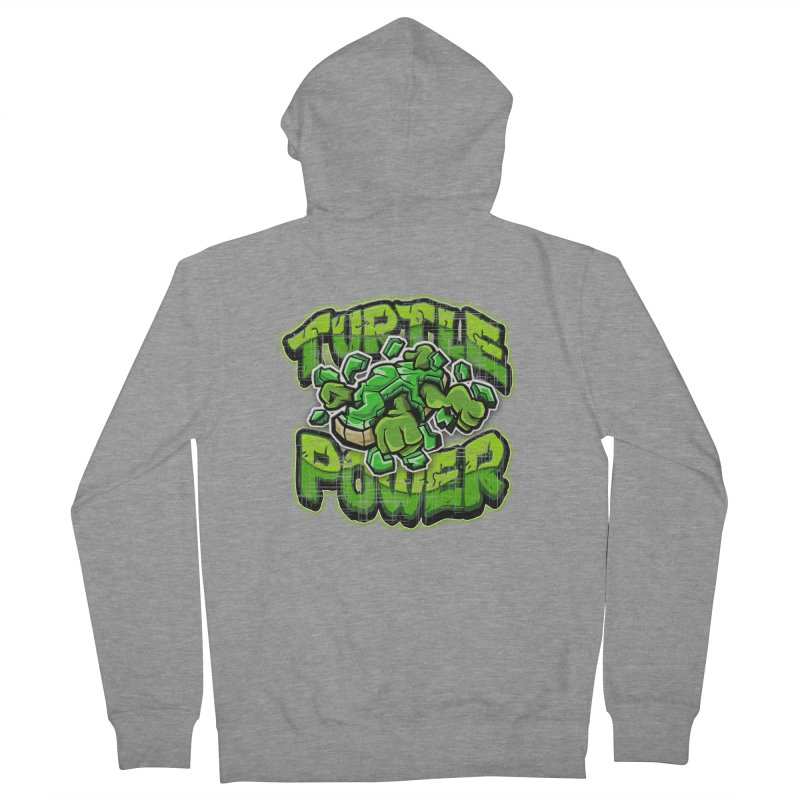 Turtle Power! Women's Zip-Up Hoody by FunkyTurtle Artist Shop