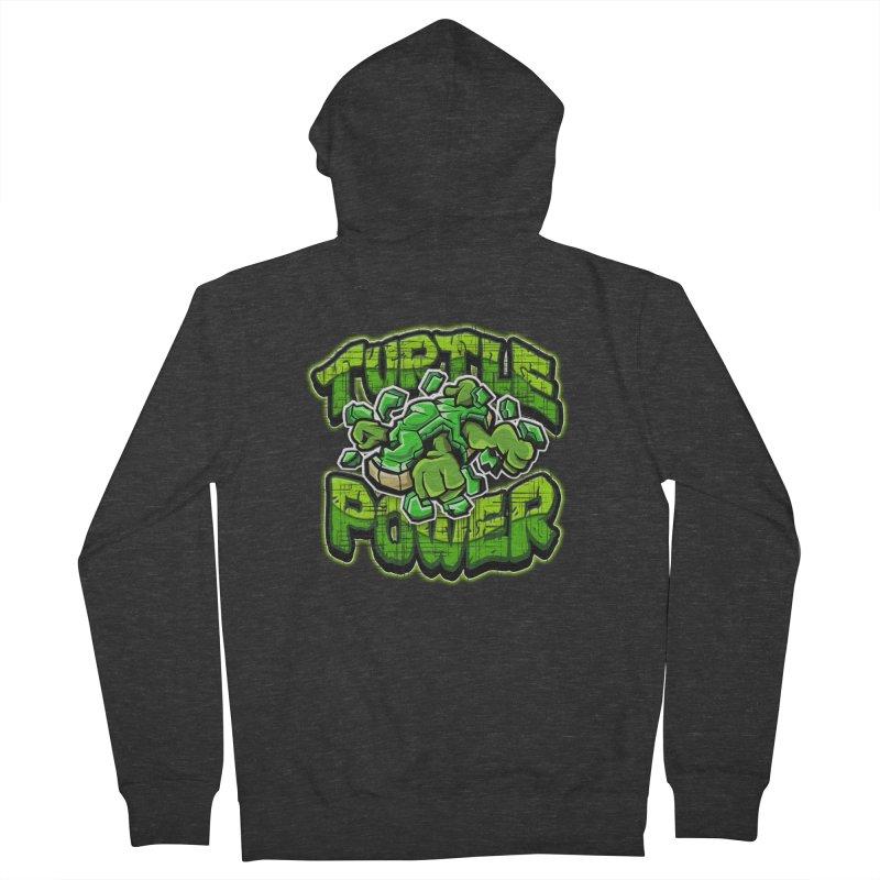 Turtle Power! Men's Zip-Up Hoody by FunkyTurtle Artist Shop