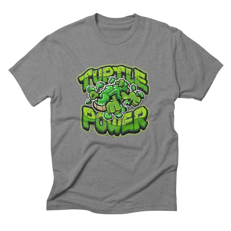 Turtle Power! Men's Triblend T-shirt by FunkyTurtle Artist Shop