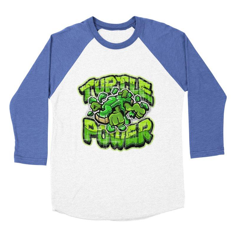 Turtle Power! Women's Baseball Triblend T-Shirt by FunkyTurtle Artist Shop