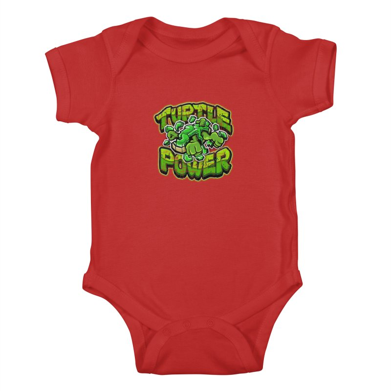 Turtle Power! Kids Baby Bodysuit by FunkyTurtle Artist Shop