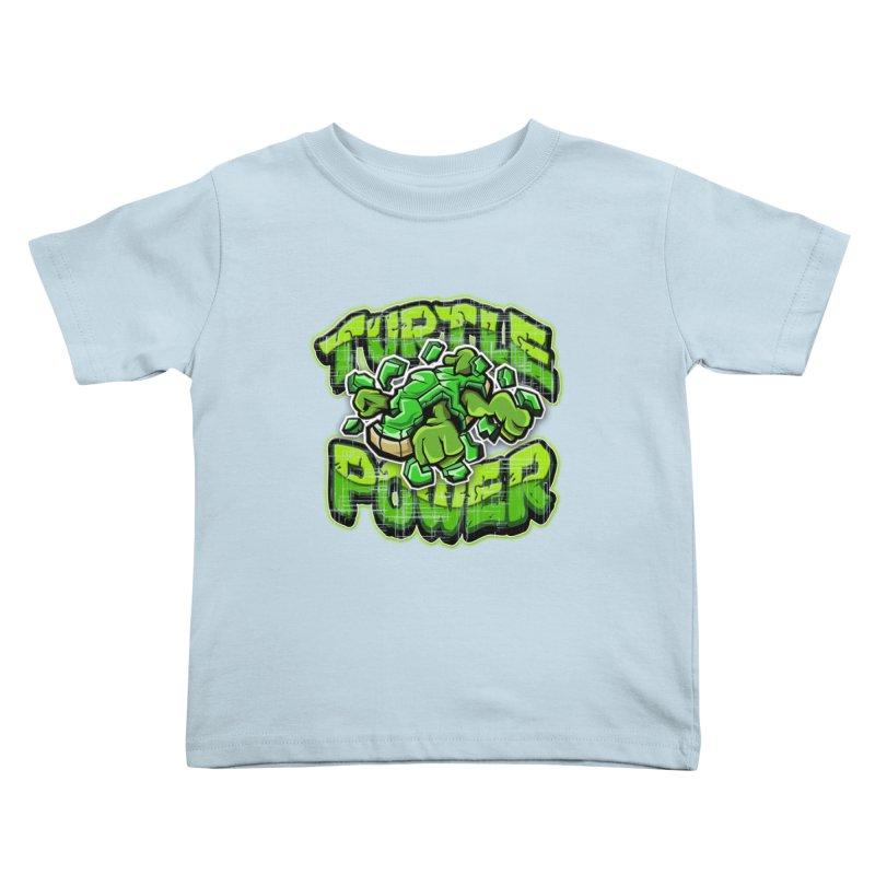 Turtle Power! Kids Toddler T-Shirt by FunkyTurtle Artist Shop
