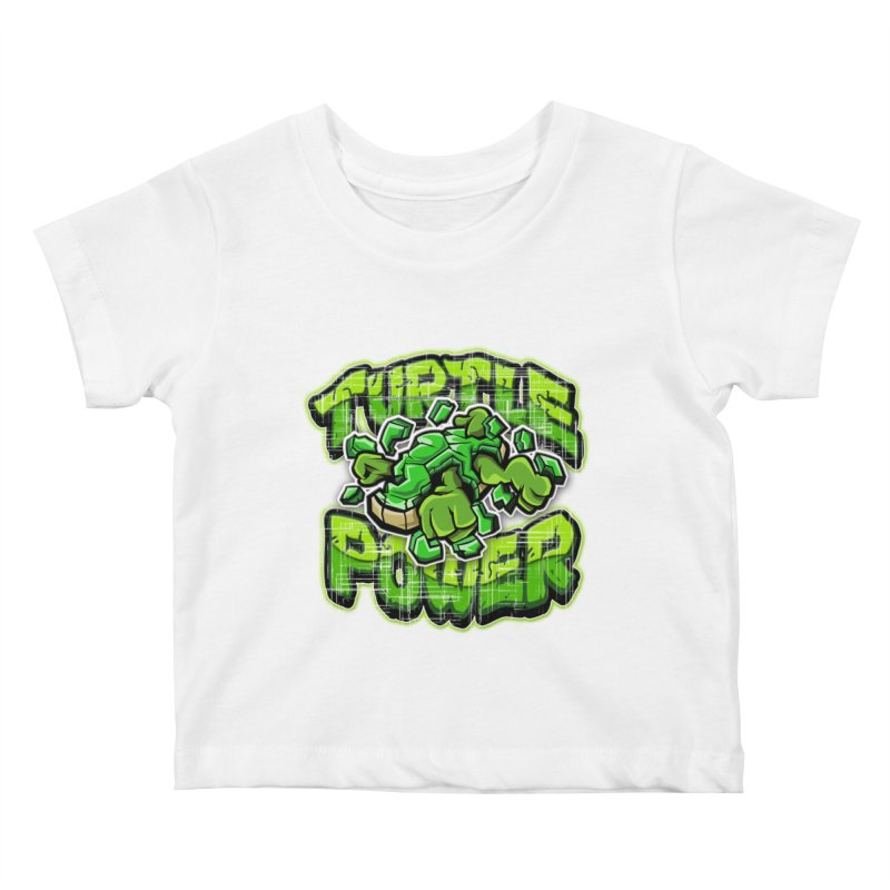 Turtle Power! Kids Baby T-Shirt by FunkyTurtle Artist Shop