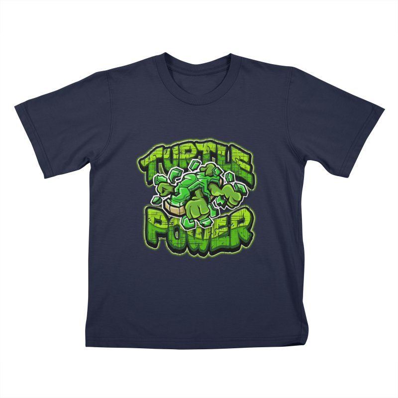 Turtle Power! Kids T-shirt by FunkyTurtle Artist Shop