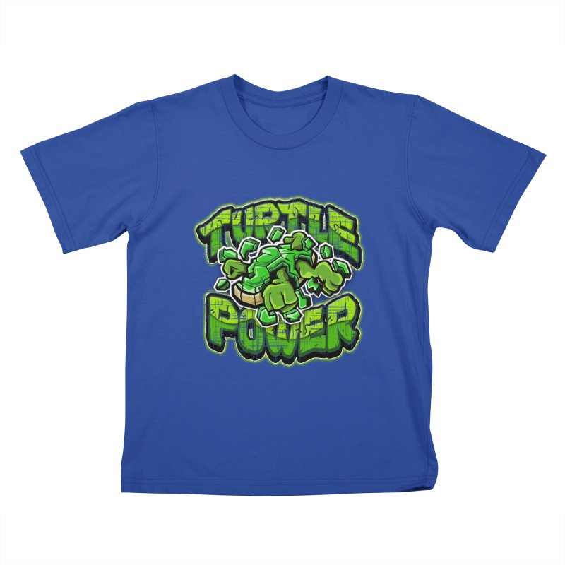 Turtle Power! Kids T-Shirt by FunkyTurtle Artist Shop