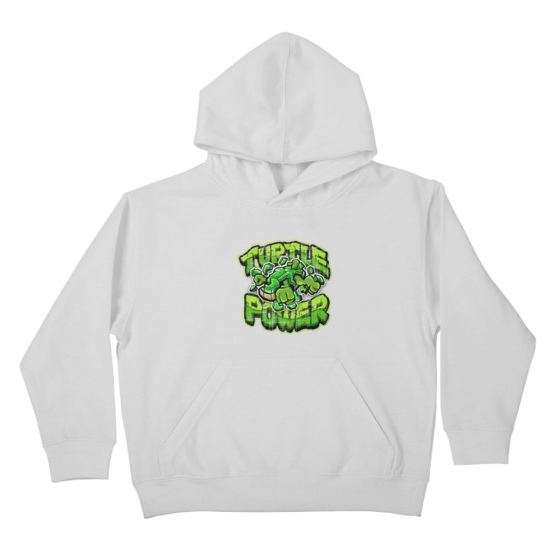 Turtle Power! Kids Pullover Hoody by FunkyTurtle Artist Shop
