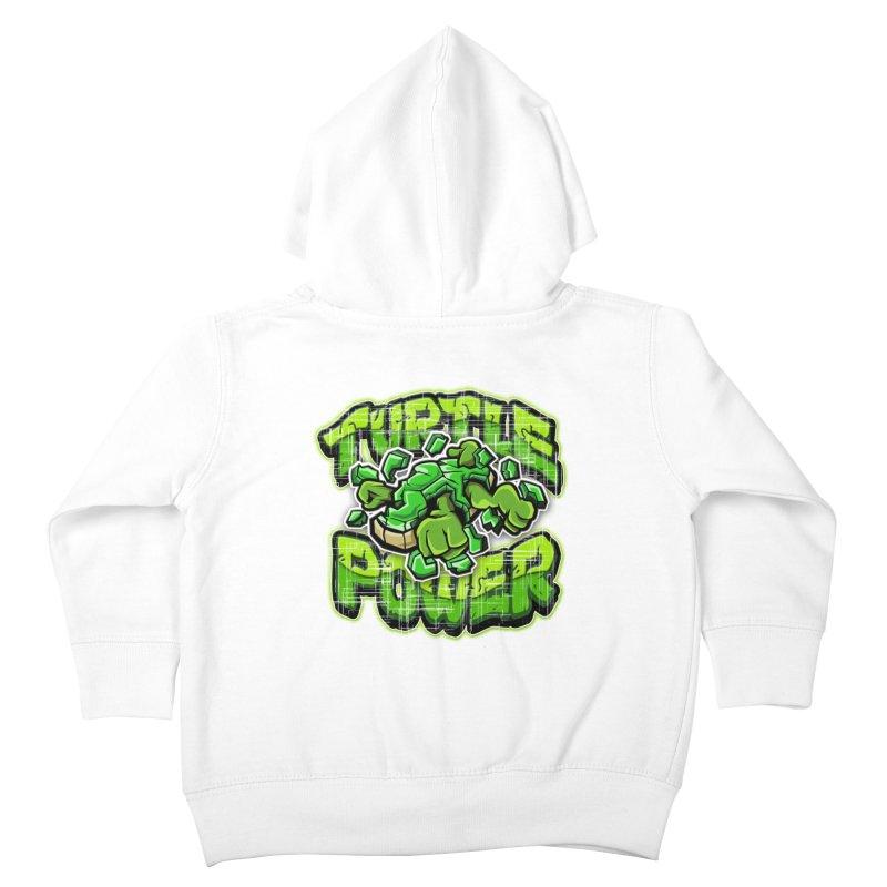 Turtle Power! Kids Toddler Zip-Up Hoody by FunkyTurtle Artist Shop