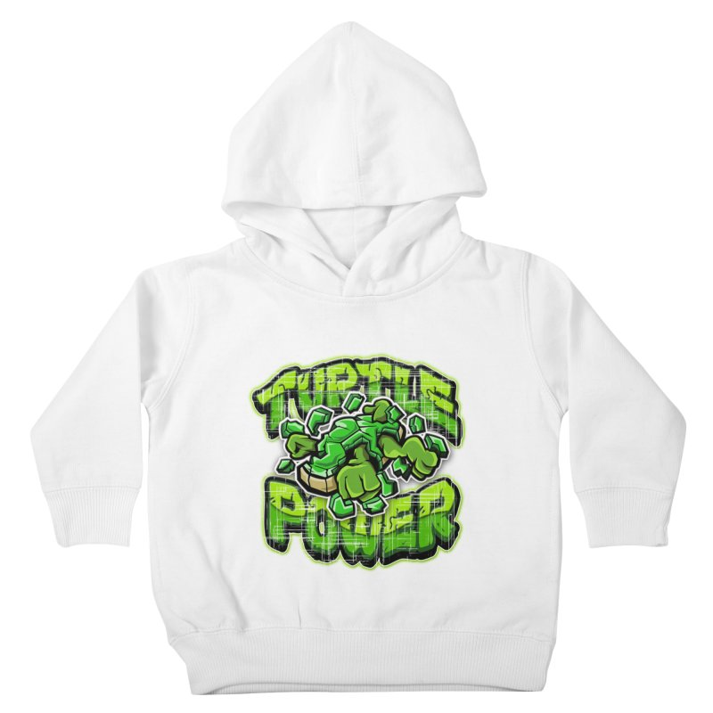 Turtle Power! Kids Toddler Pullover Hoody by FunkyTurtle Artist Shop