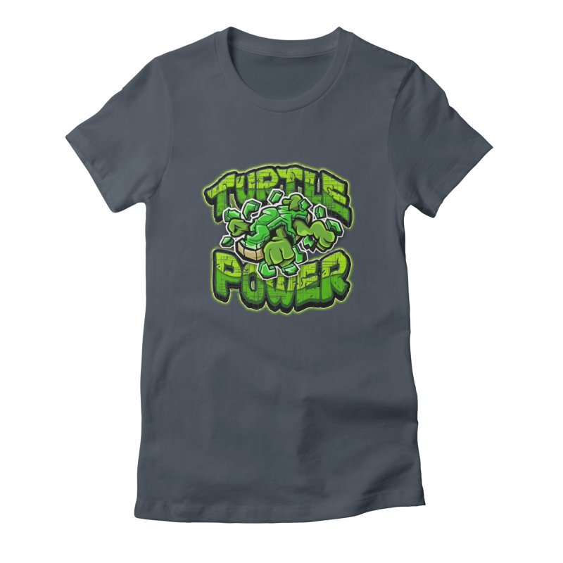 Turtle Power! Women's T-Shirt by FunkyTurtle Artist Shop