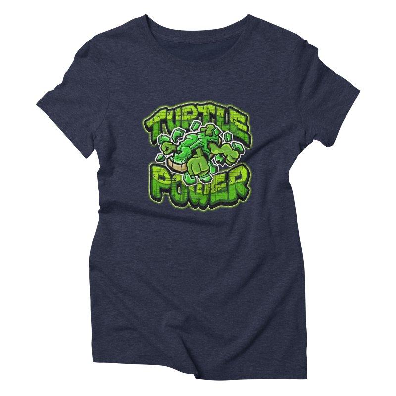 Turtle Power! Women's Triblend T-shirt by FunkyTurtle Artist Shop