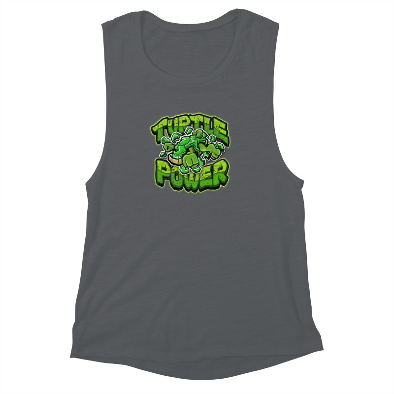 Turtle Power! Women's Muscle Tank by FunkyTurtle Artist Shop